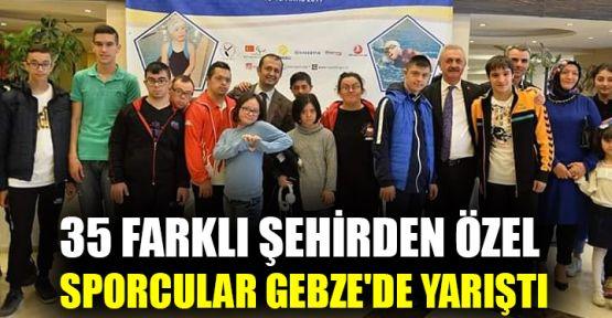 35 farklı şehirden özel sporcular Gebze'de yarıştı