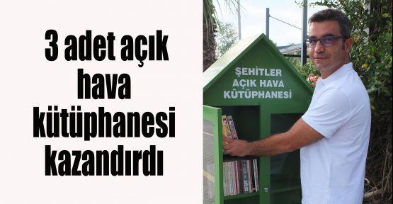 3 adet açık hava kütüphanesi kazandırdı