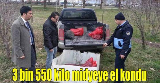 3 bin 550 kilo midyeye el kondu