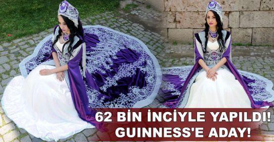 62 bin inciyle yapıldı, Guinness'e aday!