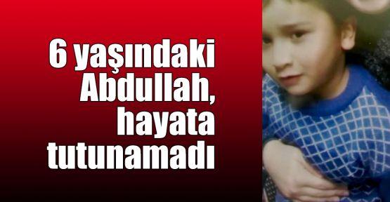 6 yaşındaki Abdullah, hayata tutunamadı