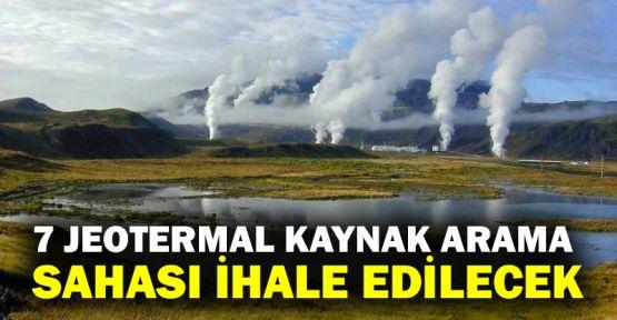7 jeotermal kaynak arama sahası ihale edilecek