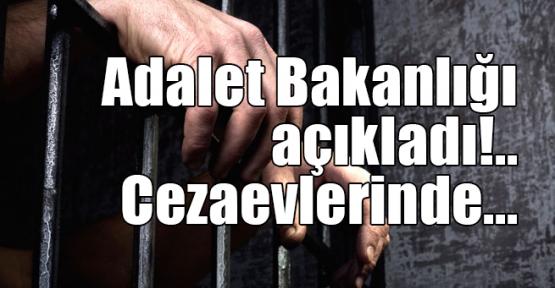 Adalet Bakanlığı açıkladı!.. Cezaevlerinde...