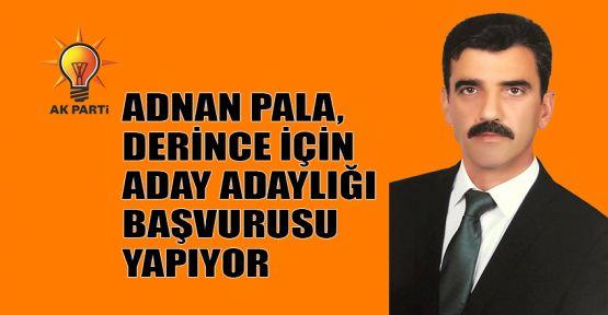 Adnan Pala, Derince için AK Parti'den aday adaylığı başvurusu yapıyor