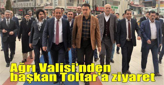 Ağrı Valisi'nden başkan Toltar'a ziyaret