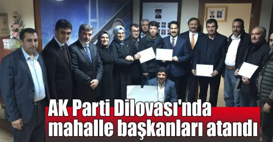 AK Parti Dilovası'nda mahalle başkanları atandı