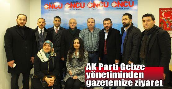 AK Parti Gebze yönetiminden gazetemize ziyaret