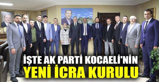 AK Parti Kocaeli'nin İcra Kurulu belirlendi
