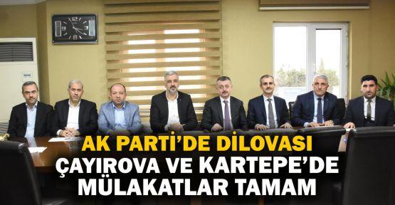 AK Parti'de 3 ilçe daha mülakatları tamamladı