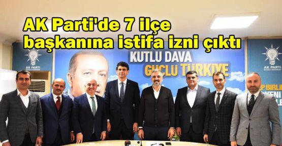 AK Parti'de 7 ilçe başkanına istifa izni çıktı