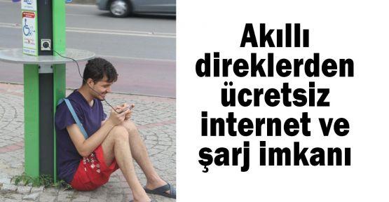 Akıllı direklerden ücretsiz internet ve şarj imkanı
