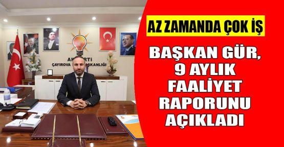 Ali Osman Gür, 9 aylık başkanlığını değerlendirdi