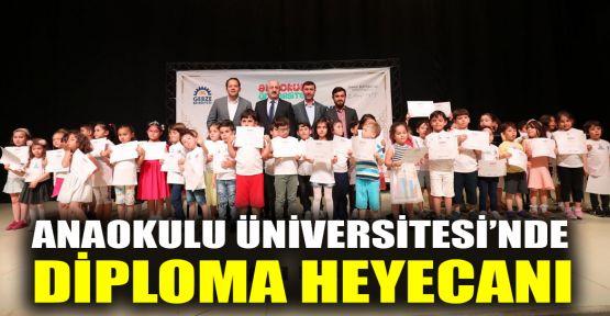 Anaokulu Üniversitesi'nde diploma heyecanı