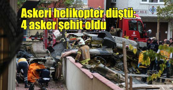 Askeri helikopter düştü: 4 asker şehit