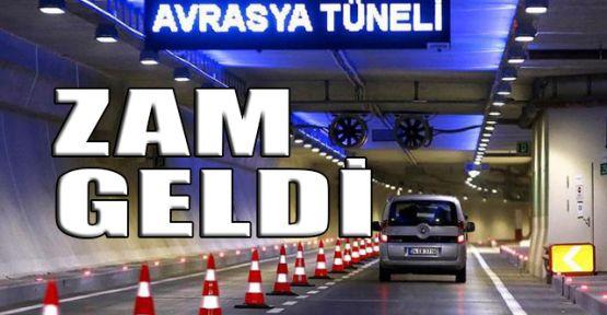 Avrasya Tüneli geçiş ücretine zam geldi