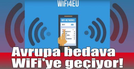 Avrupa bedava WiFi'ye geçiyor!