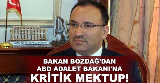Bakan Bozdağ'dan ABD Adalet Bakanı'na kritik mektup!