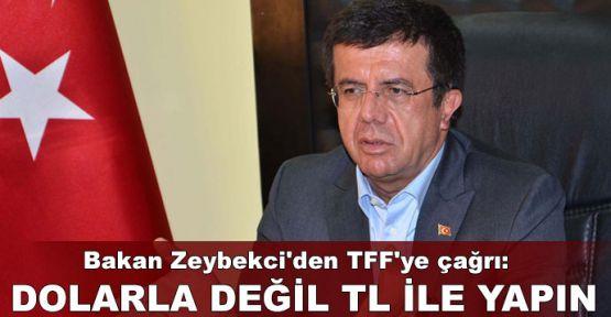 Bakan Zeybekci'den TFF'ye 'TL' çağrısı