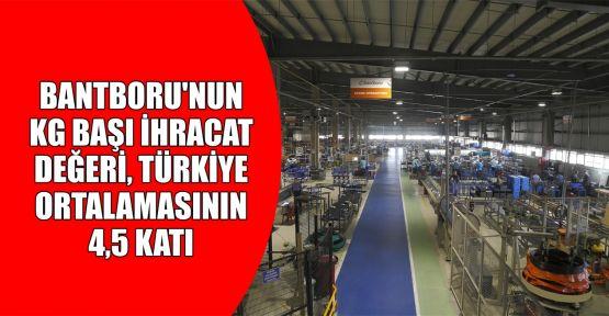 BANTBORU'nun kg başı ihracat değeri, Türkiye ortalamasının 4.5 katı