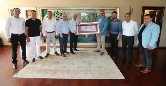 Başkan Büyükgöz, KASKF Başkanı Aydın'ı ağırladı