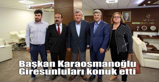 Başkan Karaosmanoğlu, Giresunluları konuk etti