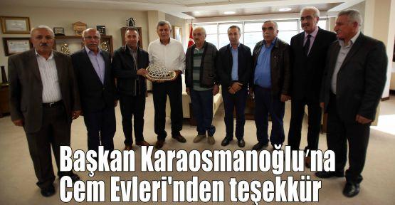 Başkan Karaosmanoğlu'na Cem Evleri''nden teşekkür