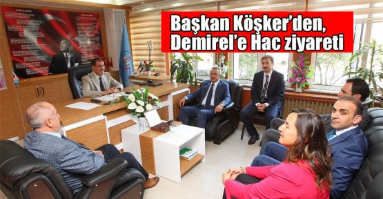 Başkan Köşker'den Demirel'e Hac ziyareti