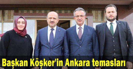 Başkan Köşker'in Ankara temasları