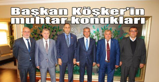 Başkan Köşker'in muhtar konukları
