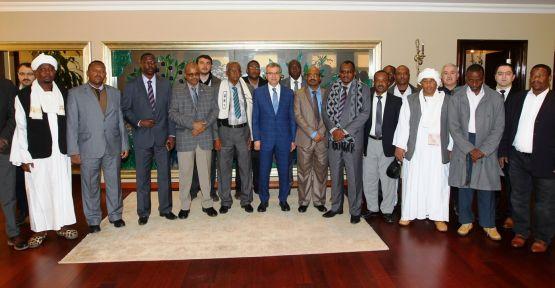 Başkan Köşker'in Sudanlı konukları