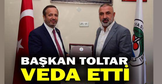 Başkan Toltar veda etti