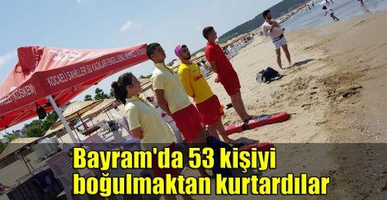 Bayram'da 53 kişiyi boğulmaktan kurtardılar
