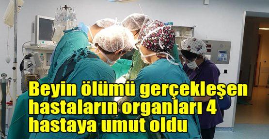 Beyin ölümü gerçekleşen hastaların organları 4 hastaya umut oldu