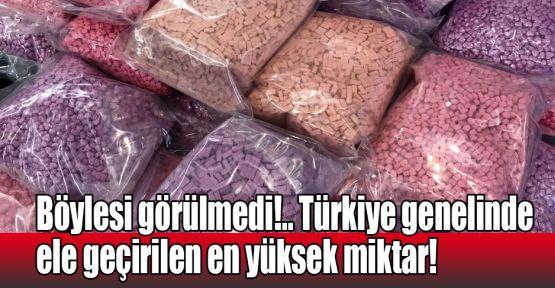 Böylesi görülmedi!.. Türkiye genelinde ele geçirilen en yüksek miktar!