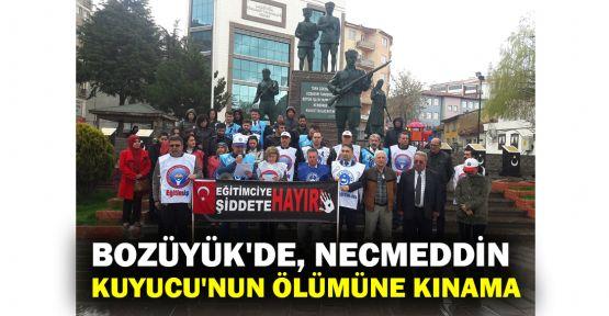 Bozüyük'de, Necmettin Kuyucu'nun ölümüne kınama