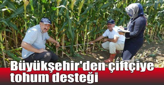 Büyükşehir'den çiftçiye tohum desteği