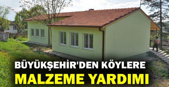 Büyükşehir'den köylere malzeme yardımı