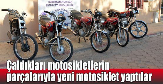 Çaldıkları motosikletlerin parçalarıyla yeni motosiklet yaptılar