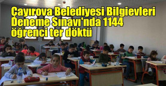 Çayırova Belediyesi Bilgievleri Deneme Sınavı'nda 1144 öğrenci ter döktü