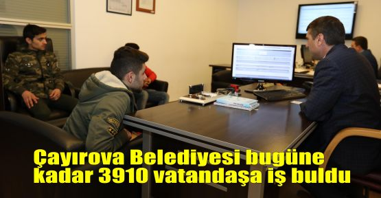 Çayırova Belediyesi bugüne kadar 3910 vatandaşa iş buldu