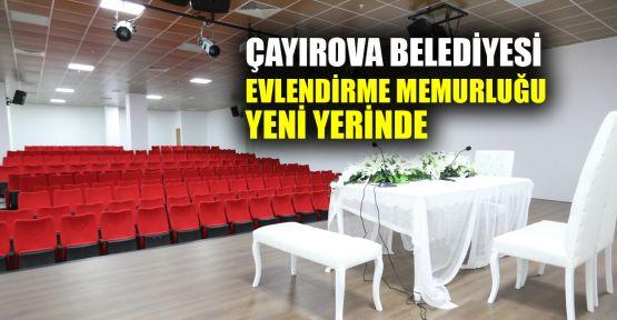 Çayırova Belediyesi Evlendirme Memurluğu yeni yerinde