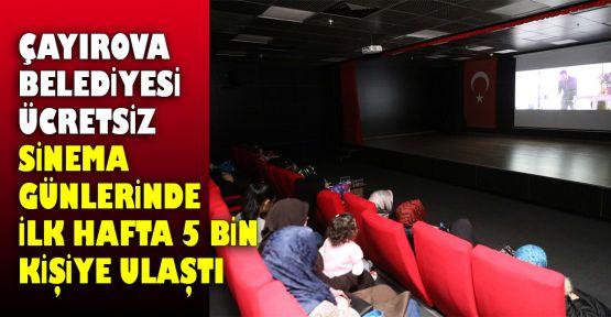 Çayırova Belediyesi ücretsiz sinema günlerinde ilk hafta 5 bin kişiye ulaştı