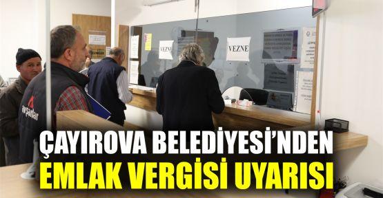 Çayırova Belediyesi'nden Emlak Vergisi uyarısı