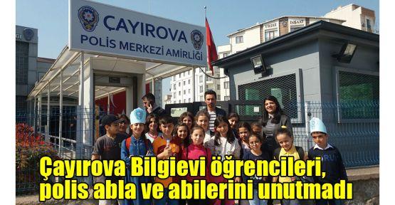 Çayırova Bilgievi öğrencileri, polis abla ve abilerini unutmadı