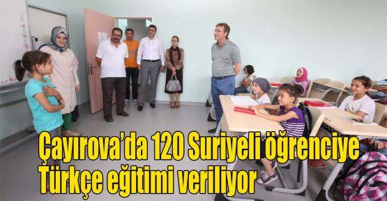 Çayırova'da 120 Suriyeli öğrenciye Türkçe eğitimi veriliyor