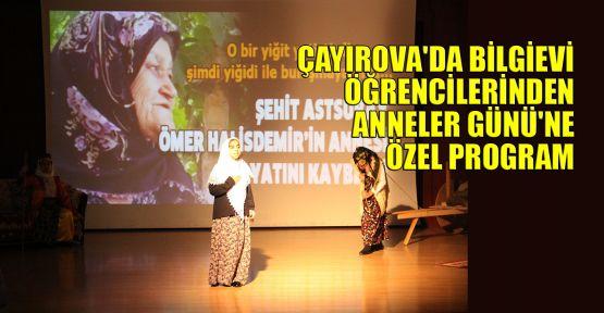 Çayırova'da bilgievi öğrencilerinden Anneler Günü'ne özel program