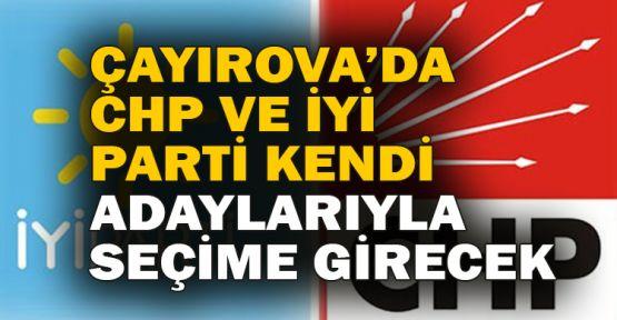 Çayırova'da CHP ve İYİ Parti kendi adaylarıyla seçime girecek