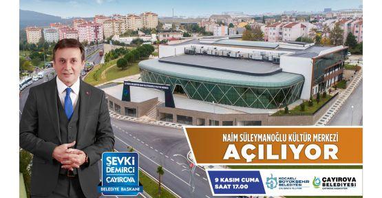 Çayırova'da Naim Süleymanoğlu Kültür Merkezi açılıyor