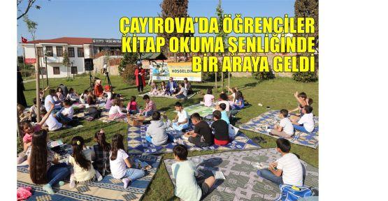 Çayırova'da öğrenciler kitap okuma şenliğinde bir araya geldi