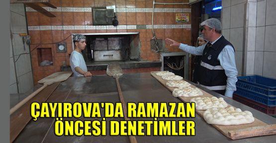 Çayırova'da Ramazan öncesi denetimler arttırıldı